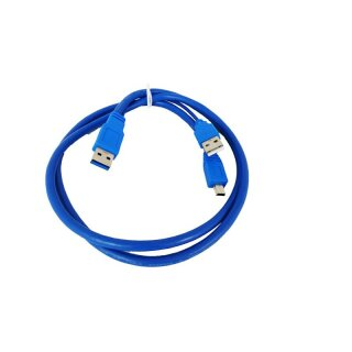 sempre U309Amicro 0,9m USB3.0 Kabel HighQuality Stecker A to Stecker MicroB blue