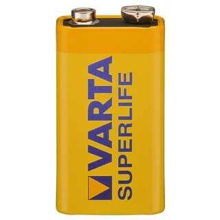 Varta 42338 Superlife 6F22/9V Block (2022) - Zinkchlorid Batterie, 9 V